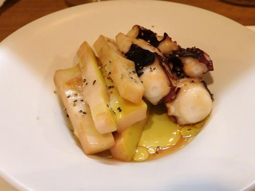 58蛸と真竹の燻製オリーブオイル掛け