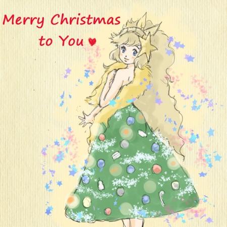 クリスマスツリーガール