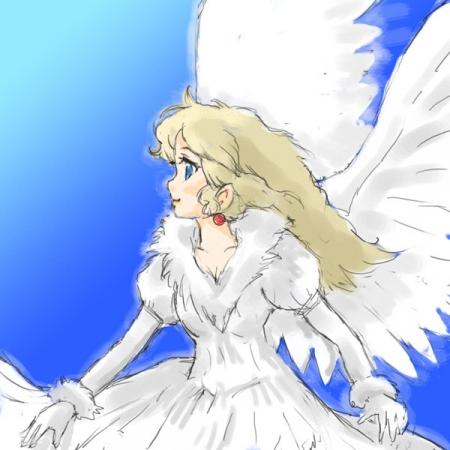 西高東低青空の天使