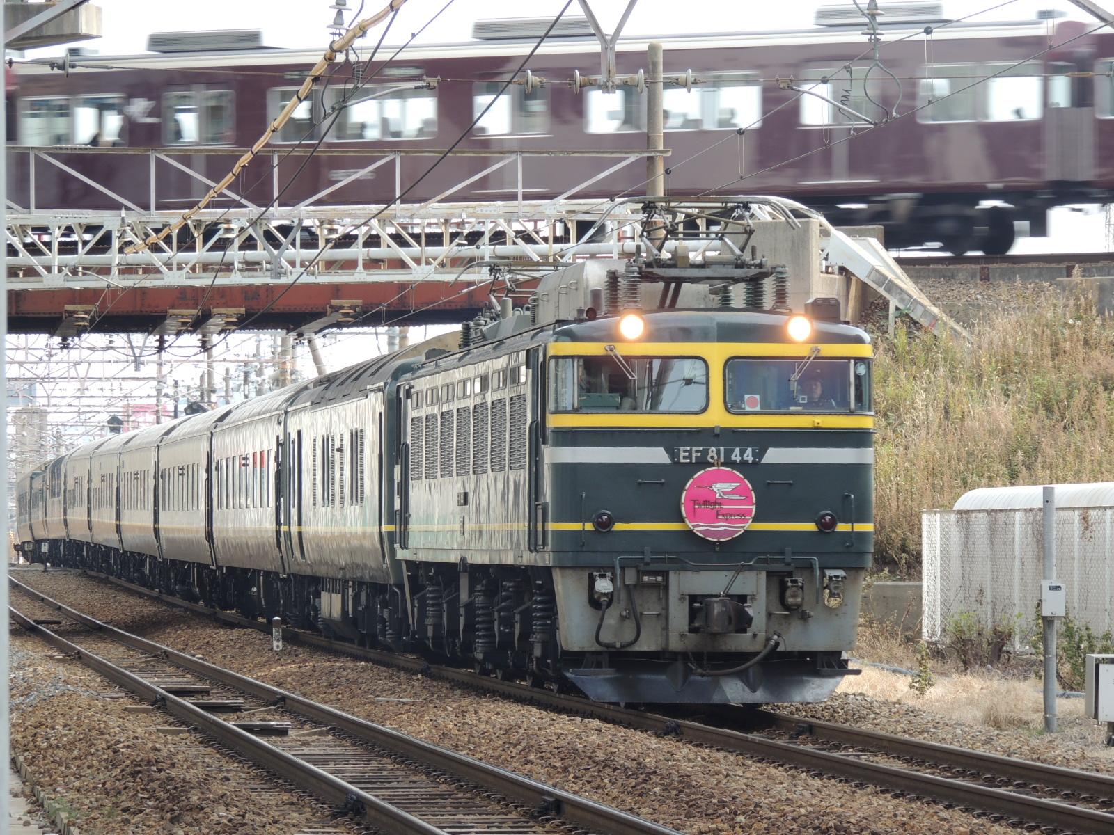 トワイライトと阪急アンダークロス 北方貨物線にて (3)