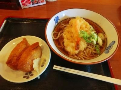 今庄 天ぷらそば+いなり寿司