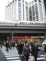 110311有楽町駅近く新幹線は止まっている