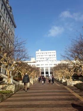 숙명여대대학교も坂のキャンパスです(笑)