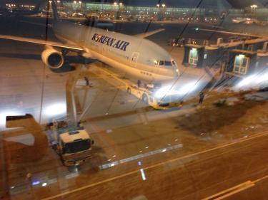 初の大韓航空にこれから乗ります^^