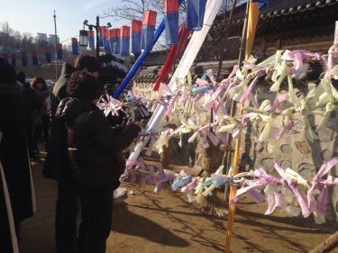 韓国の観光スポットではソルラルならではのイベントもしています^^