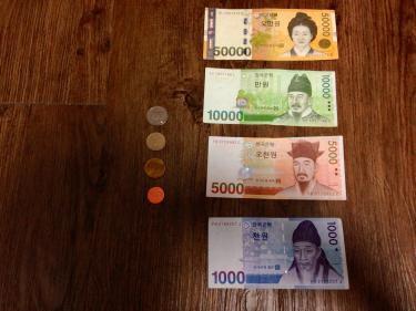 韓国のお金。使い慣れるまではちょっと難しい?!