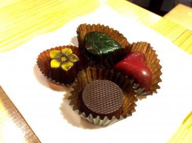ハンドメイドのチョコレート。