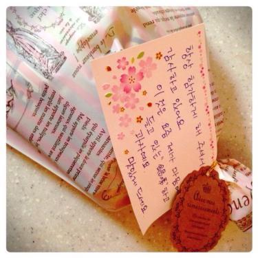 旅行でいらしゃる際に参加して頂くメンバーの方からメッセージとプレゼントまで^^