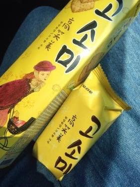 最近のマイブームの韓国のお菓子をバス移動のお供に(笑)