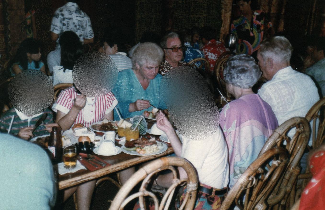 ハワイ1日目の夕食①-1