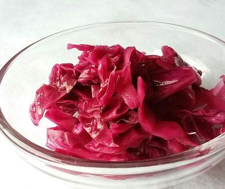 紫キャベツの甘酢漬け-1