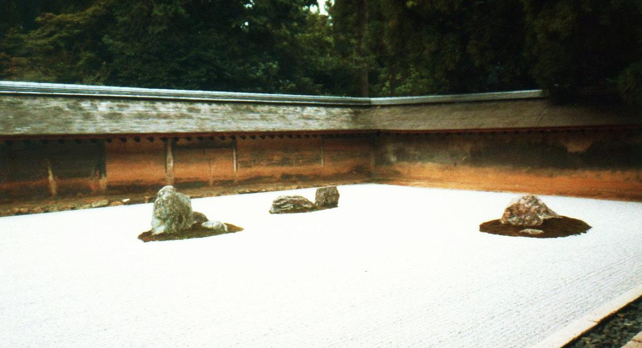 京都竜安寺・方丈庭園(石庭)石庭①-1