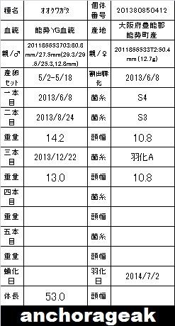 7B 201380850412 Card
