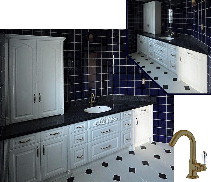アニーズキッチン 白い扉の洗面台