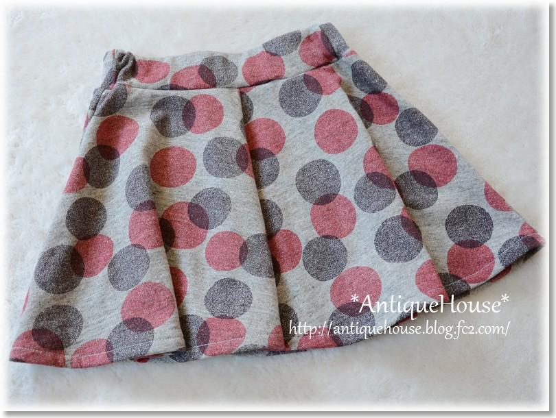 ニットフレアースカート/ミニ丈*130サイズ