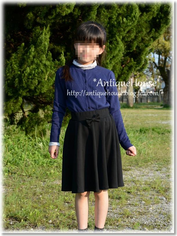 ニットフレアースカート/ひざ丈ver.*130サイズ