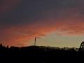 日没前の西空