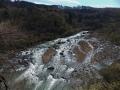 広瀬川と北斜面