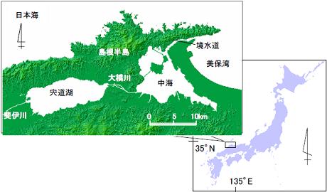 斐伊川地勢図