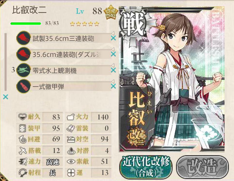 2015春イベ E-2編成3