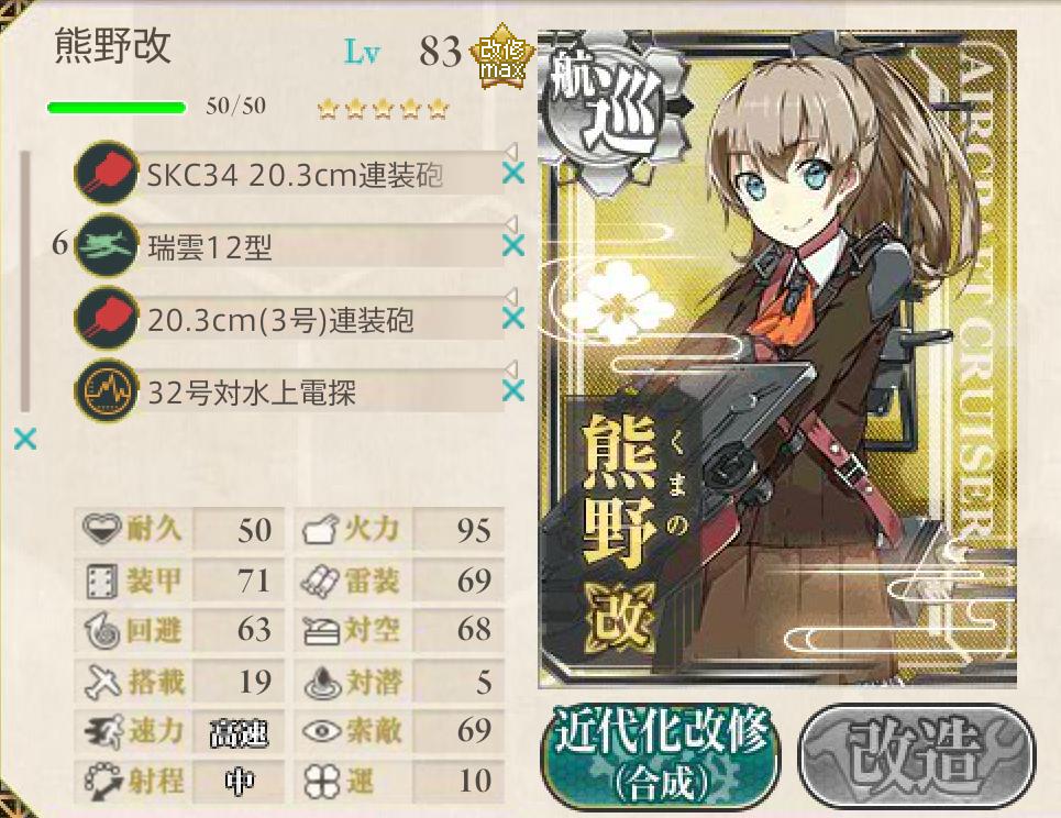 2015春イベ E-3編成4