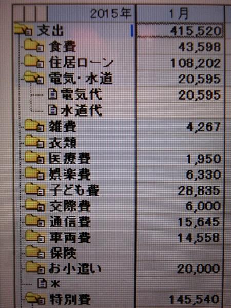 2015/1家計簿