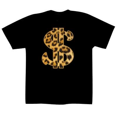 T-shirt Leopard Dollar