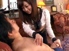 【川上ゆう】乳首快感伝道師の痴女お姉さんによる乳首責めと手コキ