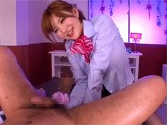 里美ゆりあがゴム手袋指でアナルを掻きまわして手コキ!SEXまでできる性感エステ!