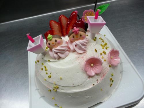 おひなまつりケーキ③