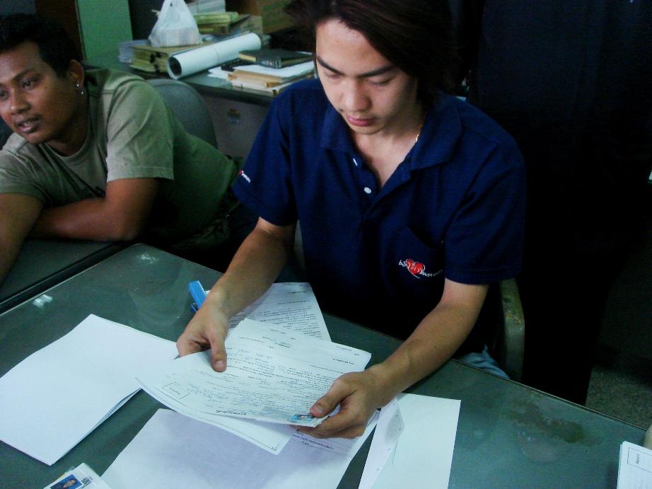 2006年、本部で登録する新人アーサーたち
