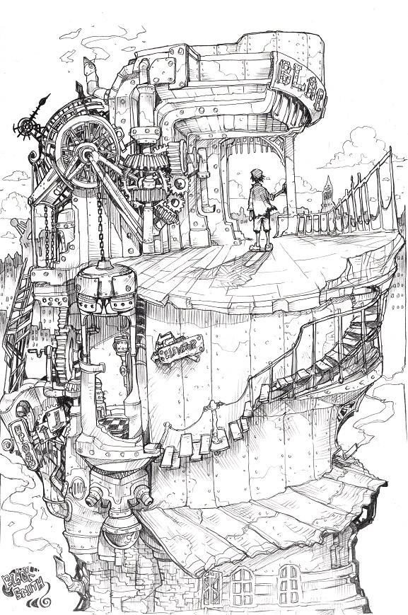 ネジ巻きの塔