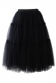 Amore Tulle Midi Skirt in Black