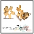 Hanami Tiny Post Earrings gold (2)1