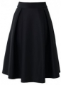 Full A-line Midi Skirt in Black (2)