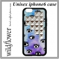 Eye On Purp Silver Studded Pyramid iPhone 6 Case (1)