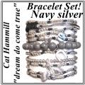 w71 coco bracelet set navy silver 1 (1)