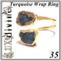 Turquoise Wrap Ring Gold 35 (1)1