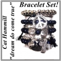 w74 Brazillia bracelet set navy silver 2普通紺 2 (2)1