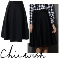 Full A-line Midi Skirt in Black (2)11