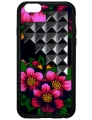 Gypsy Floral Black Pyramid iPhone 6 Case (2)
