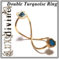 INFINITY Double Turquoise Ring Gold (1)1