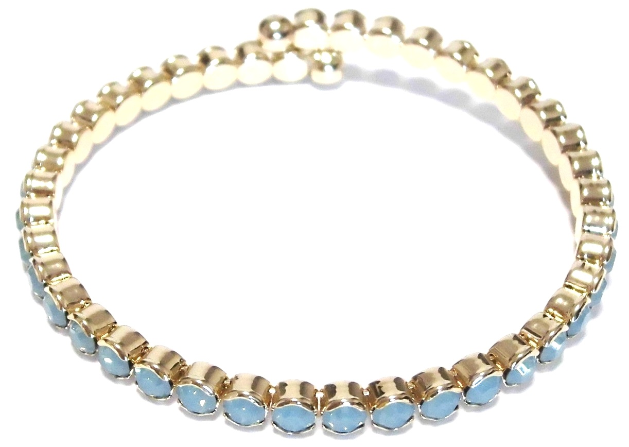 Blue crystal bracelet yellow (1)