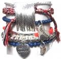 A315 Nautical Chain Tassel Set bracelet silver multi (6)
