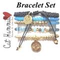 NEW SEASON - W820 Free Bracelet set aqua gold1