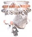 A306 Crystal heart bracelet set (1)