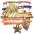 w314 st tropez chain tassel braselet set gold (4)