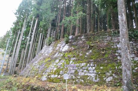 12石垣も建物もひし形
