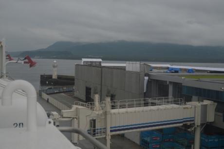 10雲がかかった桜島