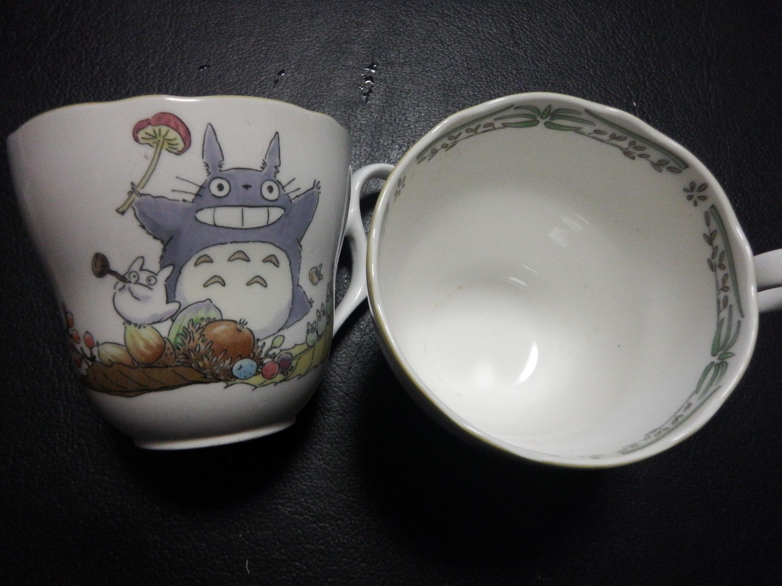茶渋after トトロのコップ